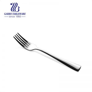Mirror polished fine 200mm stainless steel dinner fork