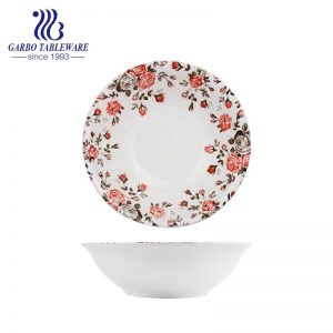 Newest China Wholesale Cheap Porcelain Tableware Kitchen Serving Dish 6Inch Flower Design Ceramic Dinner Plate