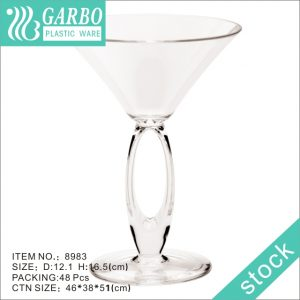 8oz Unique Wine Cocktail Plastic Stemware with Special Design