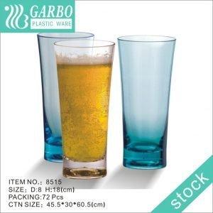 كوب بيرة بلاستيكي كبير 500 مل قابل للكسر ومقاوم للكسر وخالي من BPA