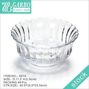 Durable plasticware restaurant use transparent 4.5inch plastic dinner bowl
