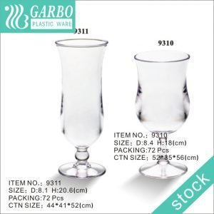 Morning Glory-shaped Plastic Wine Glass with A Short Stem and Wide Base