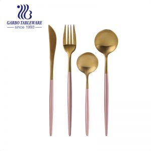 Rose Gold 4 Pieces Flatware Set Perfect for Promotion Gift