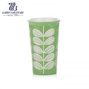 390ml nice tall glaze porcelain coffee or tea cup