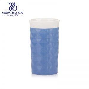 450ml nice design glaze porcelain water drinking cup