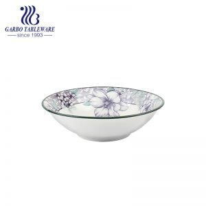 Popular glazed cereal noodle bowl with big front opening for sale