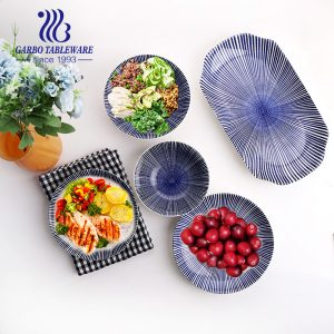 Factory cheap 7/8/9/12inch plain porcelain tableware dinnerware sets round square charger dish ceramic food serving plate