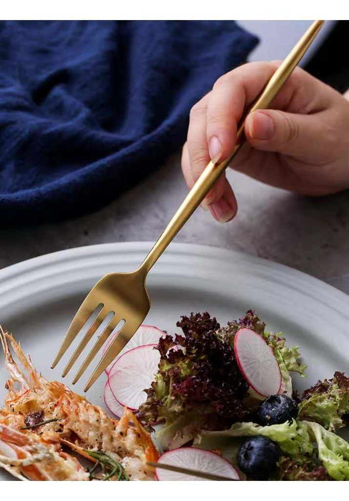 Do you know what three different types of stainless steel forks necessary on the table?