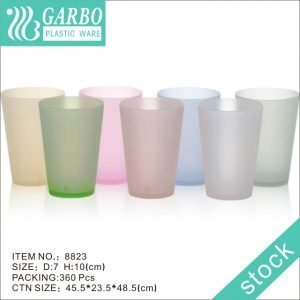 Cheap price 10oz clear V shape plastic drinking cup