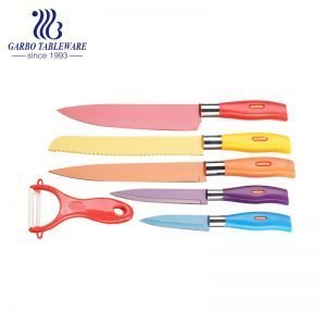 China Superior Quality Non-stick Personlized Environmental Friendly Safe Peller Acessories 6PCS 420 Material Kitchen Knife Set