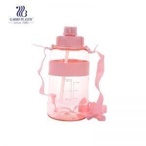 زجاجة مياه بلاستيكية سعة 1.5 لتر مع شفاطة للرياضة والمشي لمسافات طويلة