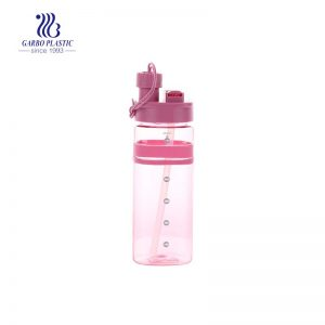 600ml 21oz pink color safe-using plastic bottle in bulk BPA free