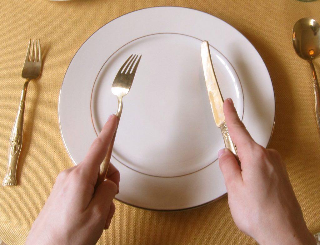 7 etapas para o uso adequado de talheres na mesa de comida ocidental