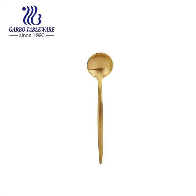 ложка из нержавеющей стали компания Подарочная акция PVD золотое покрытие ужин ложка из нержавеющей стали для супа в наличии