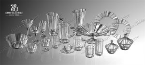 Garbo new Glacier collection glassware showed in Online Canton Fair