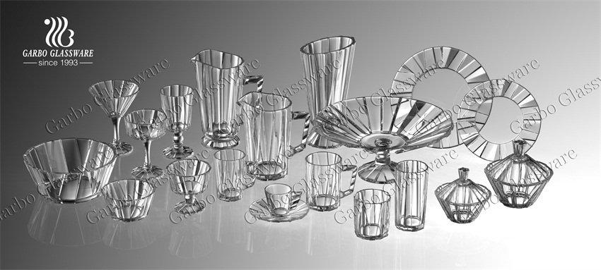 Garbo new Glacier collection glassware showed in Online Canton Fair