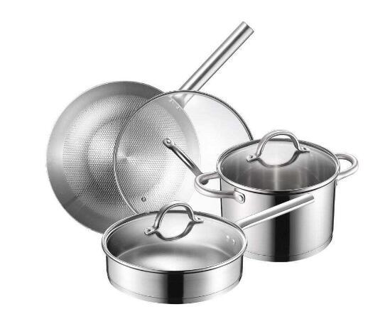 Panela de aço inoxidável ou panela de ferro fácil de usar