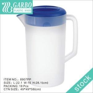 Jarro de água fria de 3300ml em acrílico fosco não tóxico com alça portátil e tampa azul