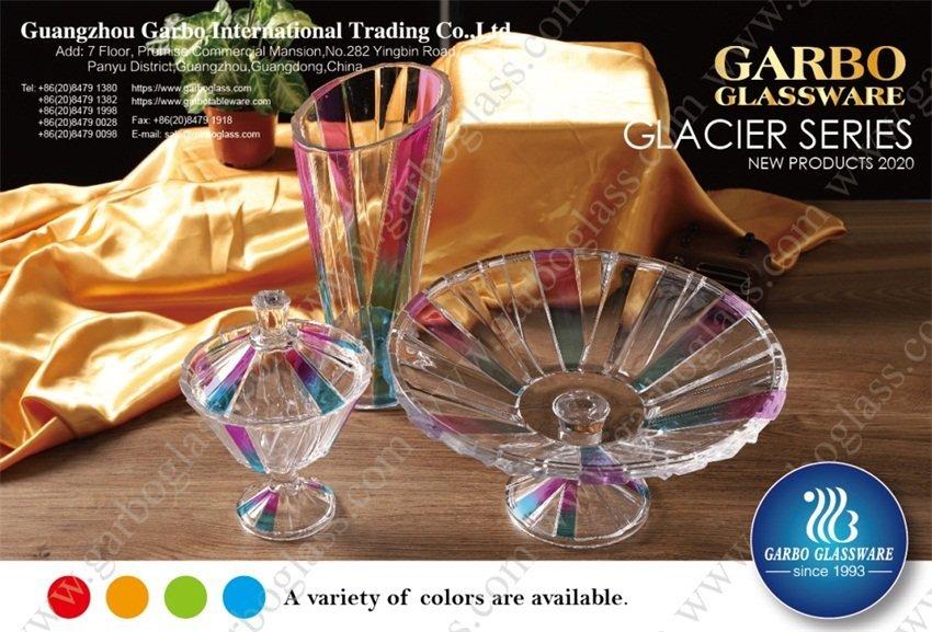 تم عرض الأواني الزجاجية لمجموعة Garbo الجديدة من Glacier في معرض كانتون عبر الإنترنت