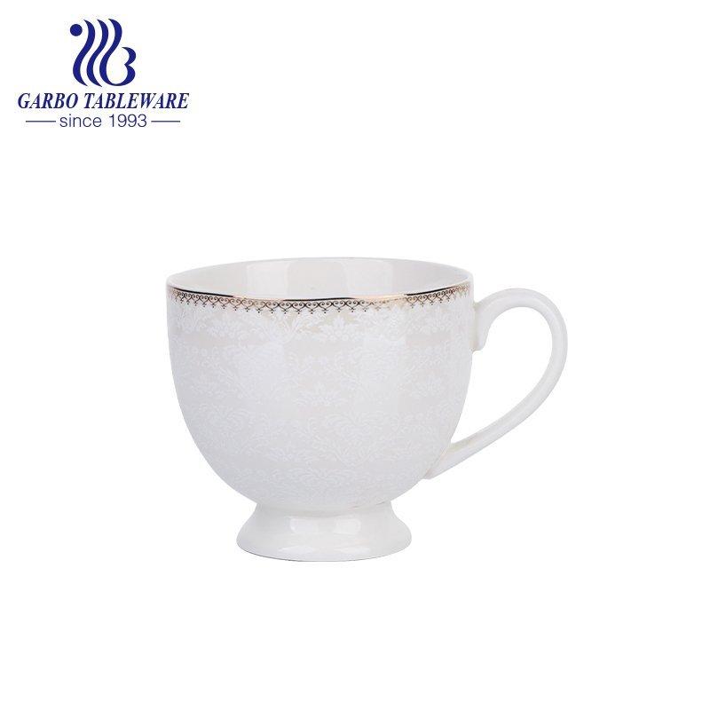 Кружка для кофе из фарфора с золотым принтом на заказ