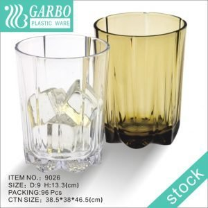 Wholesale custom colored cup polycarbonate round plastic cup with thick bottom