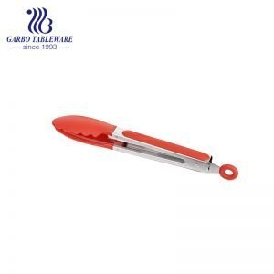 food grade restaurant use heat resistant cooking clip with cheap price 430 stainless steel food tong