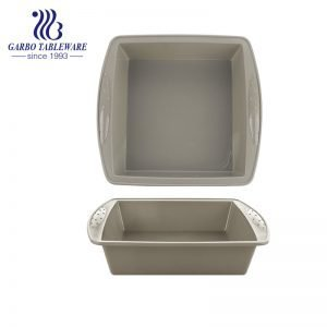 Kitchen Silicone Baking Molds Non-Stick Cake Pan with Pumpkin Chocolate Cupcakes Bat Square Shape Grey Color