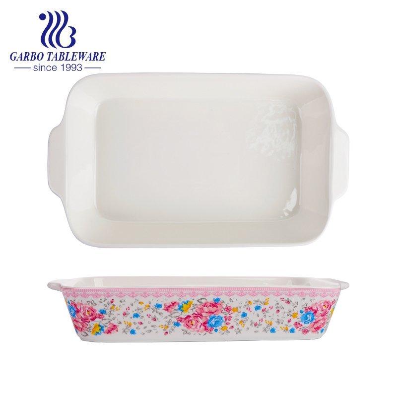 Новая тарелка для запекания из костяного фарфора