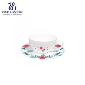 new flower design new bone china coffee cup and saucer set