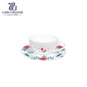novo design de flor novo conjunto de xícara e pires de café bone china