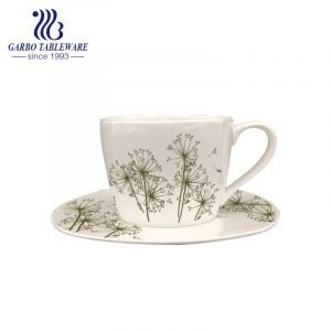 high quality new bone china cup and saucer set with design