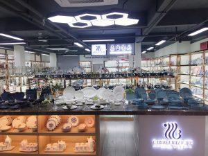 Garbo new ceramic dinnerware sample room and hot sale ceramic dinner set