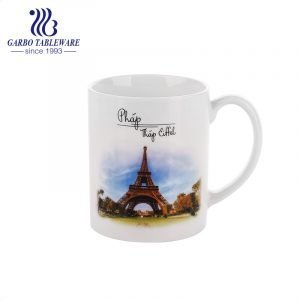 famous place souvenir ceramic mug for water drinking classic porcelain drinkware stoneware cup with handle.