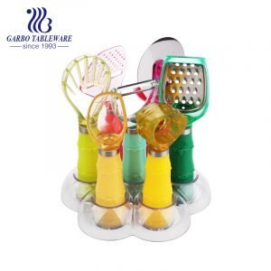 Uarter Kitchen Utensil Set 24pcs PP Cooking Utensils for Cooking and Baking Heat Resistant and Nonstick Spoon, Turners, Tongs, Whisk, Potato Masher, 10pcs Hooks Kitchen Tool Gadgets