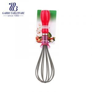Kitchen Chef Stainless Steel Whisks 8″/10″/12″, Sturdy Egg Beater for Blending Whisking Beating Mixing Cooking With PP Handle