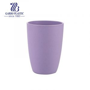 High quality 14oz dishwasher safe wheat straw reusable drinking tumbler