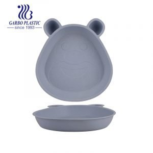 7.5″ bear shaped wheat straw kids plates with Eco-friendly material perfect for breakfast soup servings