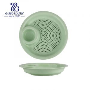 Non-Toxic Dishwasher and Microwave Safe Plastic Divided Serving Dish Unbreakable Wheat Straw Sectional Plates