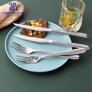 Best for camping serving set multi functional cutlery set hand polished dinnerware for meals