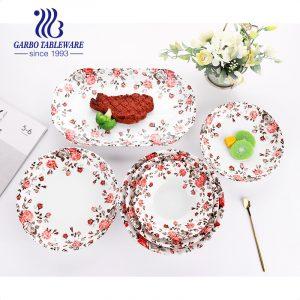China factory cheap customized under glazed design ceramic dinner set 8/9/10/12 inch fine porcelain plates for food serving