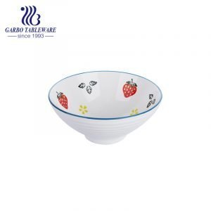 1000ml Fruit series hand-painted ceramic bowl for Microwave oven