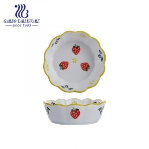 700ml Fruit series hand-painted porcelain bowl for wholesale