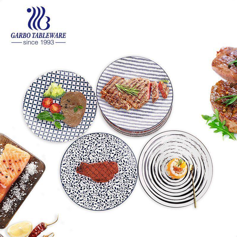 flat ceramic dinner plates