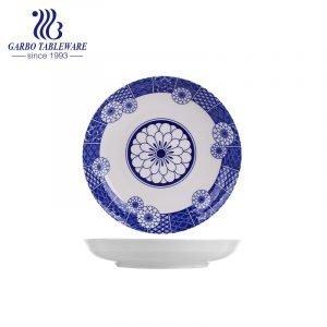 Custom OEM unique glazed design wholesaler cheap hotel serving 8inch deep porcelain plate