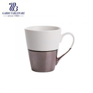 Classic color glaze ceramic coffee drinking mug porcelain latte cappuccino drinks cup for coffee shop