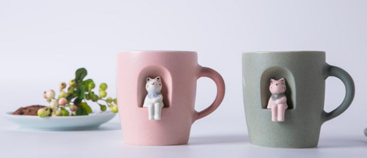 The promotional gift porcelain drinking mug ceramic cup with various printed designs for all markets