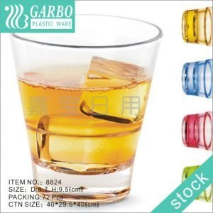 Home drinkware transparent 28cl Vintage polycarbonate whiskey cup