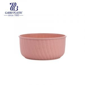 Healthy wheat straw material baby pink sweet fruit milk yogurt plastic bowl with decorative design outside