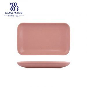 All season Natural Plastic Platters Durable Rectangular Wheat Straw Dinner Plates with Multiple Use for indoor or outdoor