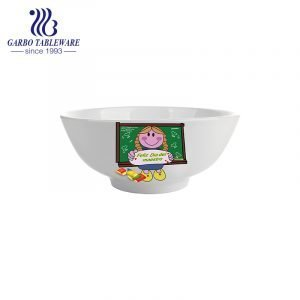 Wholesale porcelain bowl for gift and promotion with customized decal